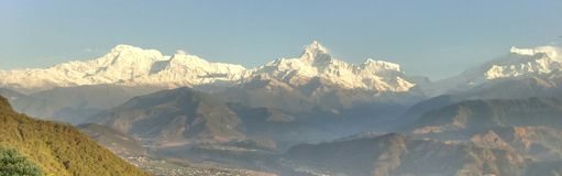 颜色图画现有量喜马拉雅山水 免版税库存图片