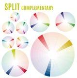 颜色图-轮子心理学-基本颜色意味 分裂补全集合第2部分 库存照片