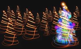 颜色圣诞树 免版税库存图片