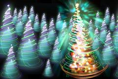 颜色圣诞树 图库摄影