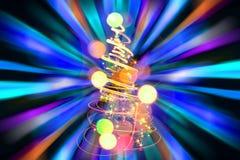 颜色圣诞树 免版税库存照片