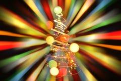 颜色圣诞树 库存照片