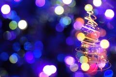 颜色圣诞树 库存图片
