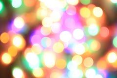 颜色圣诞灯纹理 图库摄影