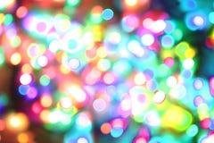 颜色圣诞灯纹理 免版税库存图片