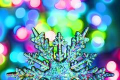 颜色圣诞灯纹理 库存图片