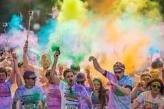 颜色在布拉格,捷克共和国跑 库存图片