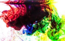 颜色在水中 图库摄影