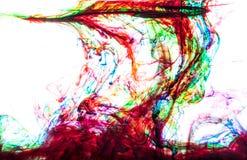 颜色在水中 库存图片