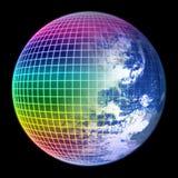 颜色地球框架地球 免版税库存图片