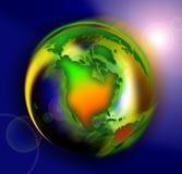 颜色地球 免版税库存图片