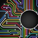 颜色地铁线路抽象背景  免版税库存图片