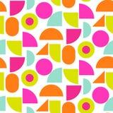 颜色块明亮的形状无缝的传染媒介样式 免版税库存图片