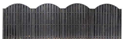 黑颜色坚实木篱芭  库存图片