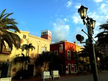 颜色城市 库存照片
