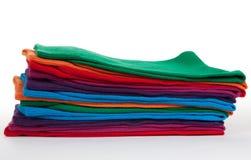 颜色堆袜子 免版税库存图片