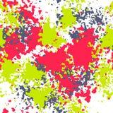 颜色墨水斑点无缝的样式 皇族释放例证