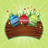 颜色复活节彩蛋向量 库存图片