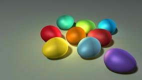 颜色复活节彩蛋 库存照片