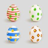 颜色复活节彩蛋设置了 向量 图库摄影