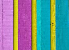 颜色多木头 免版税库存照片