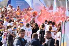 颜色奔跑节日科鲁Napoca 2019年,罗马尼亚 免版税库存图片
