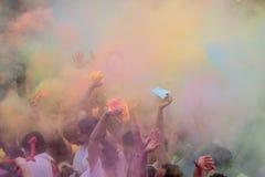 颜色奔跑 库存图片