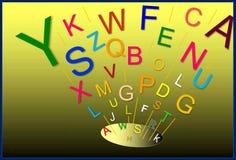 颜色字母表 字母表的诞生 例证,背景 向量例证