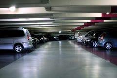 颜色对比地下作用停车 库存照片