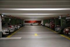 颜色对比地下作用停车 图库摄影