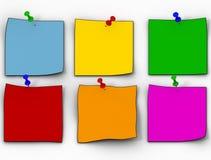颜色小叶纸张 免版税库存图片