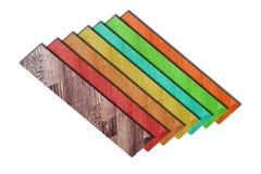 颜色层压制品。 免版税库存照片