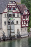 颜色屋顶斯坦上午莱茵瑞士 库存图片