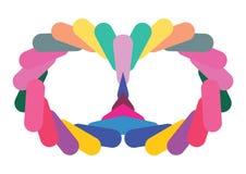 颜色屏蔽漩涡 免版税库存图片