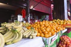 颜色市场哈代拉以色列 图库摄影