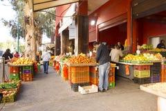 颜色市场哈代拉以色列 库存照片