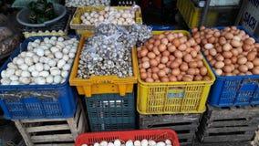 颜色市场鸡蛋 免版税库存照片