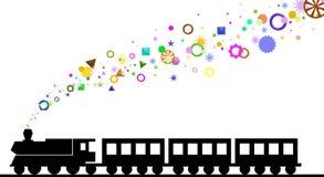 颜色形状火车 库存照片