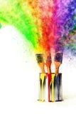 颜色彩虹从原色的 免版税库存照片
