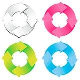 颜色循环绘制 免版税库存照片