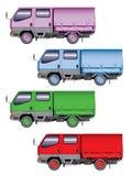 颜色微型卡车 免版税库存图片