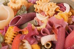 颜色意大利人意大利面食 免版税库存照片