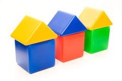 颜色房子系列 库存照片