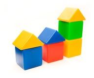 颜色房子系列 免版税库存照片