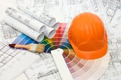 颜色房子计划抽样选择 图库摄影