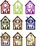 颜色房子设置了小 免版税库存图片