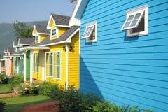 颜色房子 免版税库存图片
