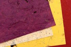 颜色手工纸张 免版税库存照片