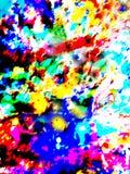 颜色抽象爆炸  免版税库存图片