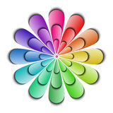 颜色抽象花 库存例证
